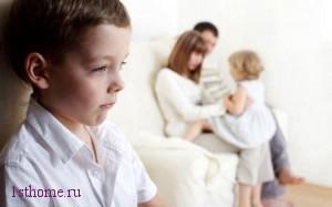 Ситуация:старший ребенок при появлении младшего.