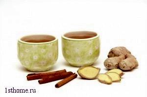 чай с корицей и имбирём