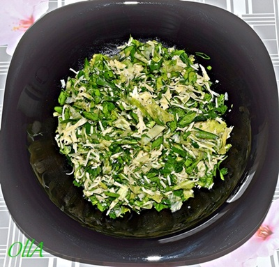 Салат зеленый сырный